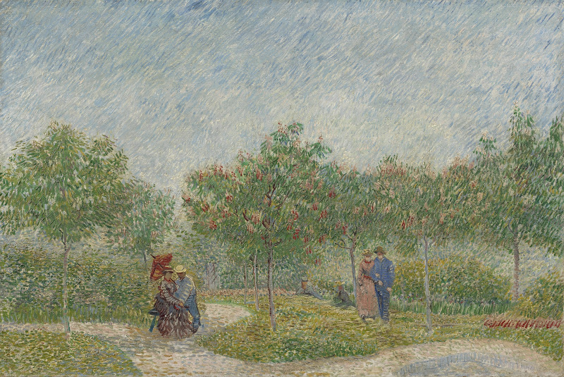 Vincent van Gogh, Garden with Courting Couples: Square Saint-Pierre, 1887, oil on canvas, Van Gogh Museum, Amsterdam (Vincent van Gogh Foundation)
